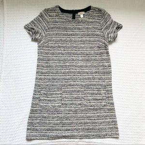 LOFT Outlet colorful tweed short sleeve dress XL